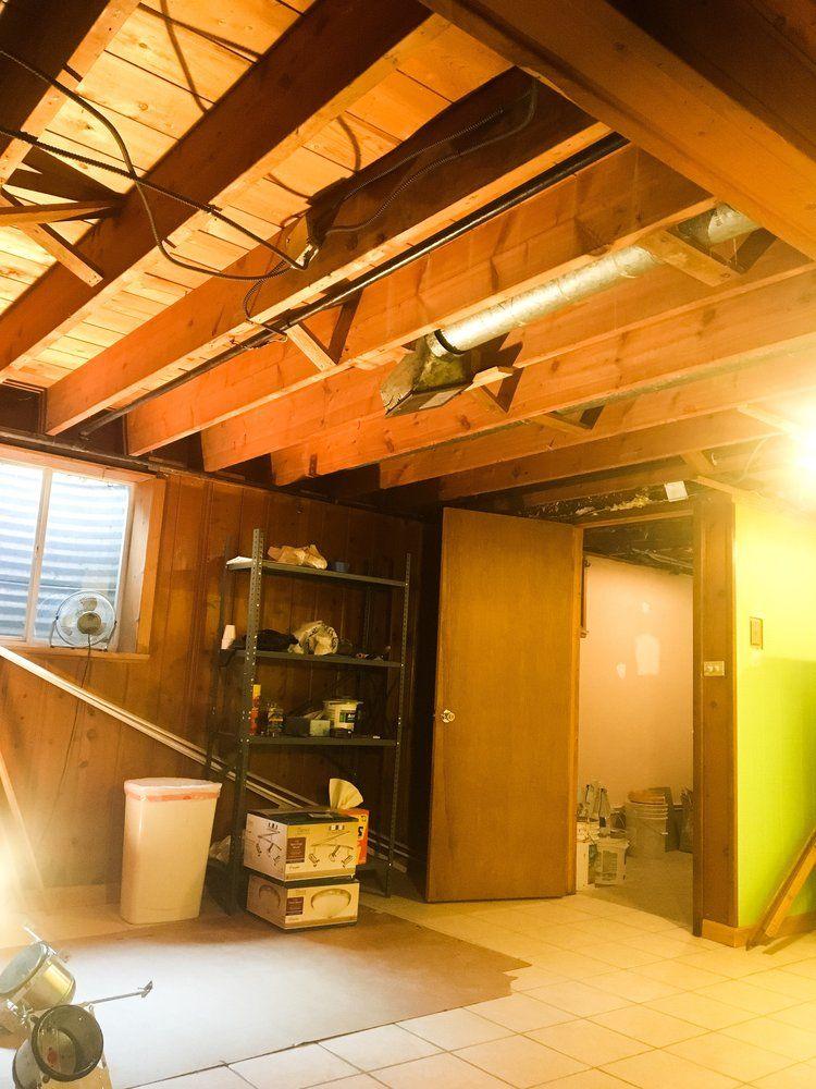DIY Painted Basement Ceiling Project Basement ceiling