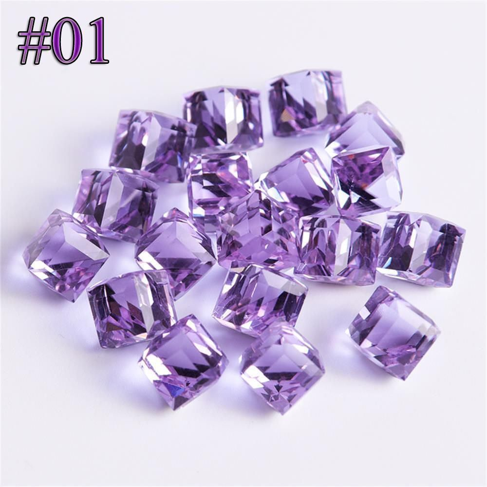 Jewelry & Accessories Beads & Jewelry Making Romantic 1-10mm Smooth Cube Square Purple Hematite Beads Natural Stone Beads For Diy Necklace Bracelets Jewelry Making 15 Free Shipping
