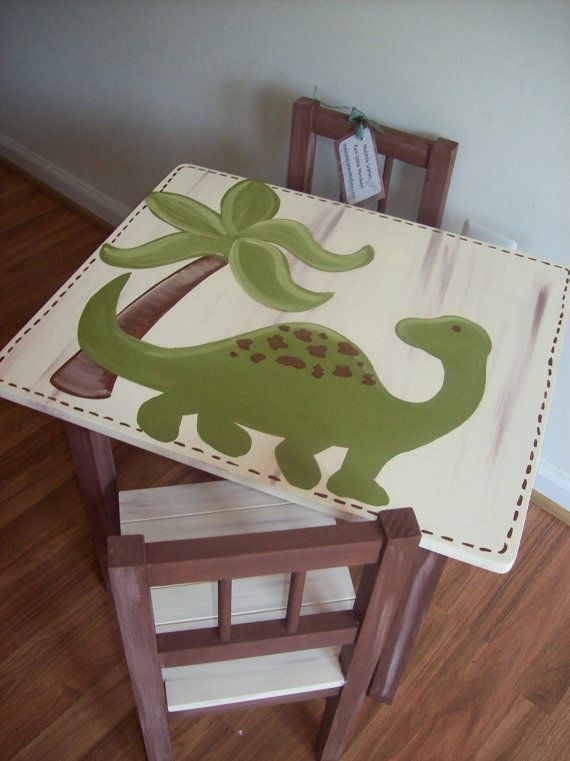Dinosaur Table and Chair Set by MelanieLupien on Etsy $225.00 & Dinosaur Table and Chair Set by MelanieLupien on Etsy $225.00 ...