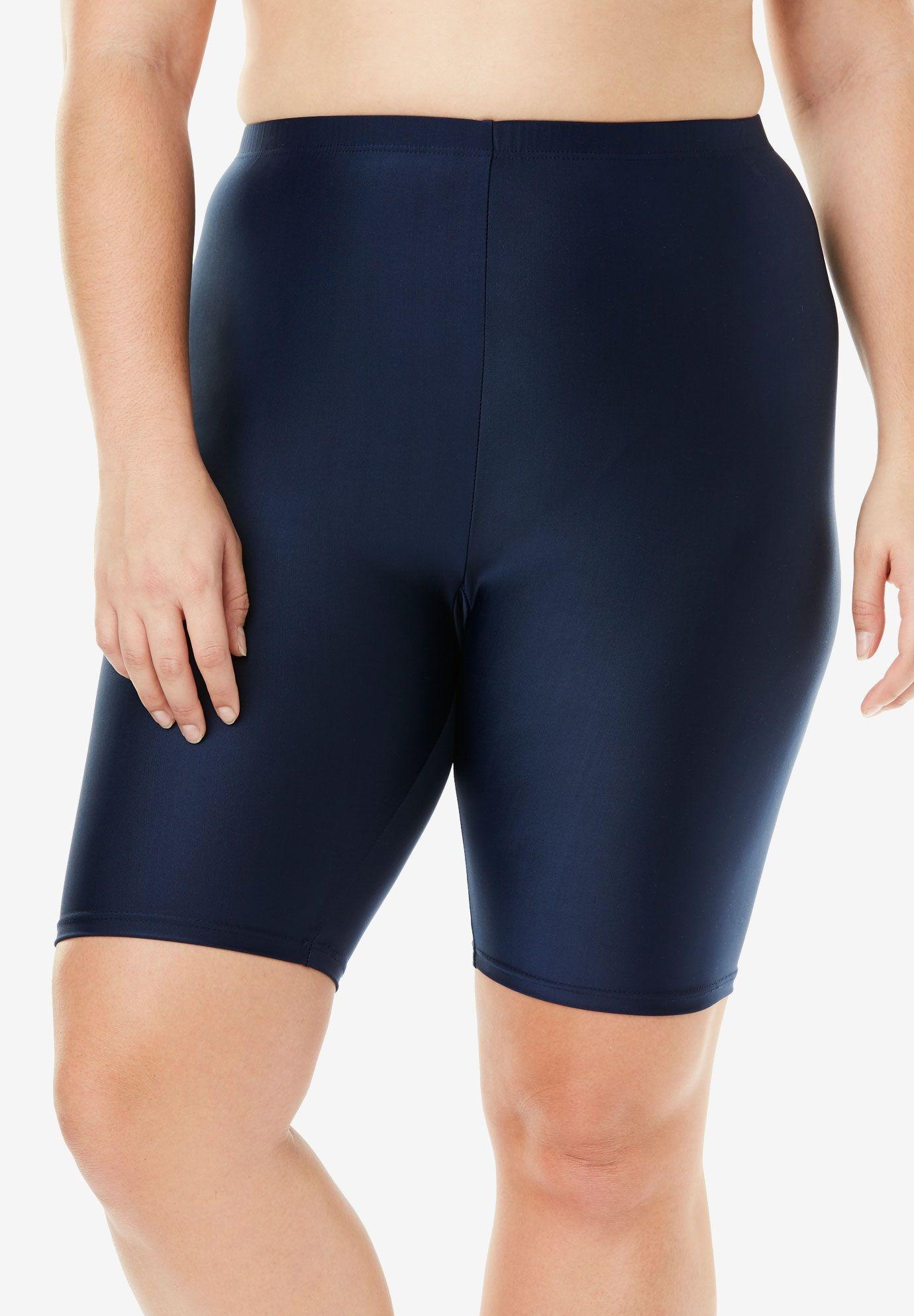 ec5f117636c2ff Aquabelle Extended Length Bike Short, NAVY, hi-res Swim Shorts Women,  Swimsuit