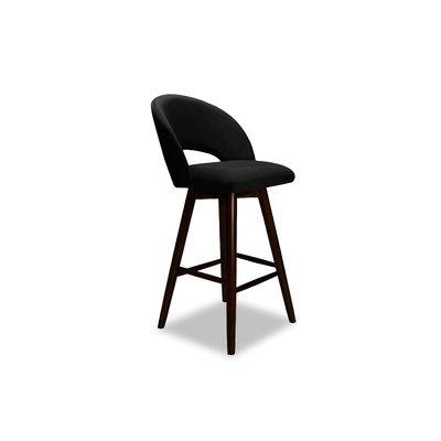Wrought Studio Letellier 26 Swivel Bar Stool Upholstery Velvet