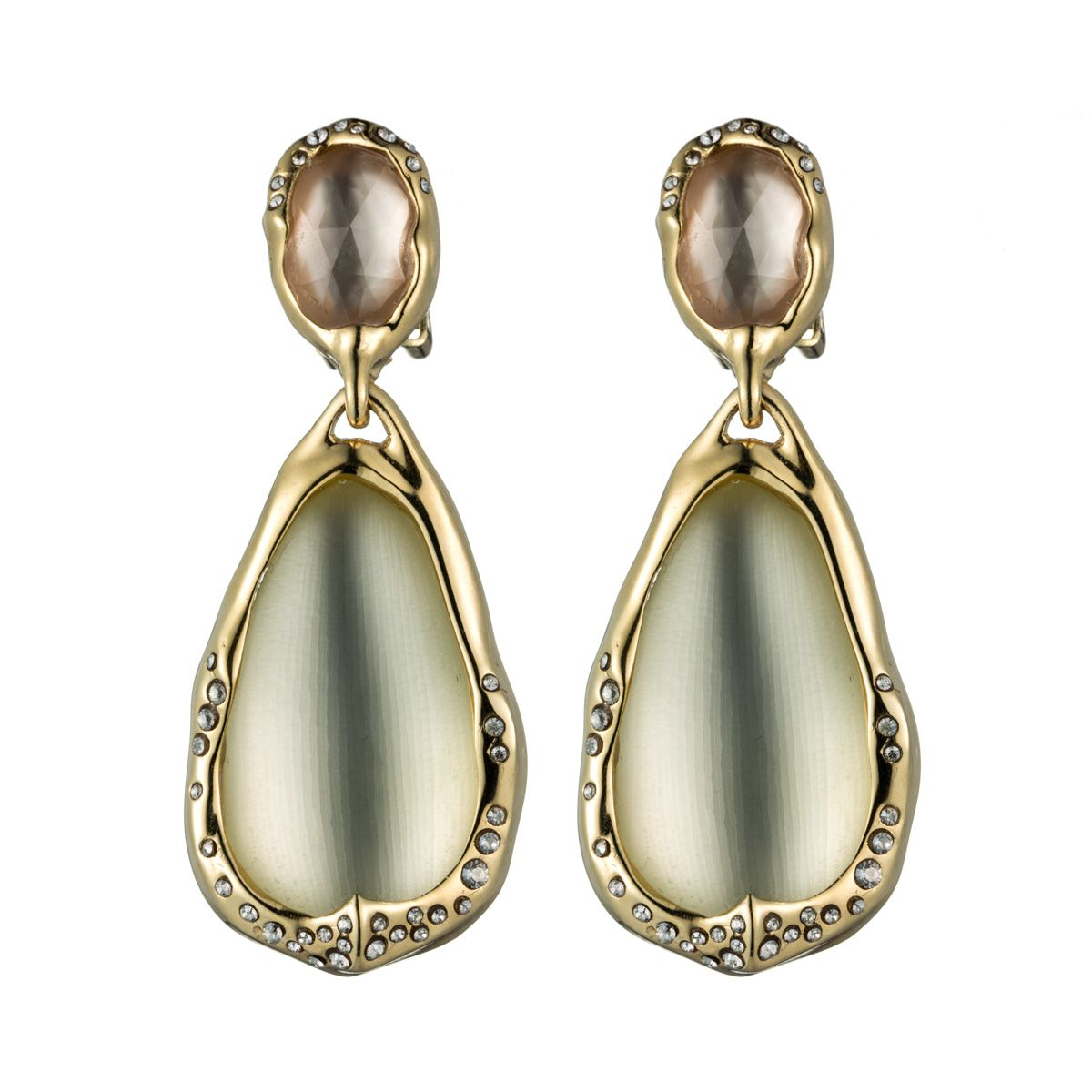 Ophelia Gold Drop Clip Earring Earrings Lucite Collections