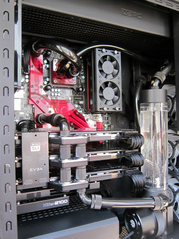 Amazing Watercooled Build With An Sli Setup In A Haf X Case Drool Ordinateur Watercooling Pc Technologie