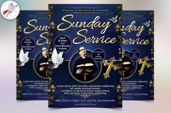 Sunday Service Flyer Template Creativework247 Flyer Templates