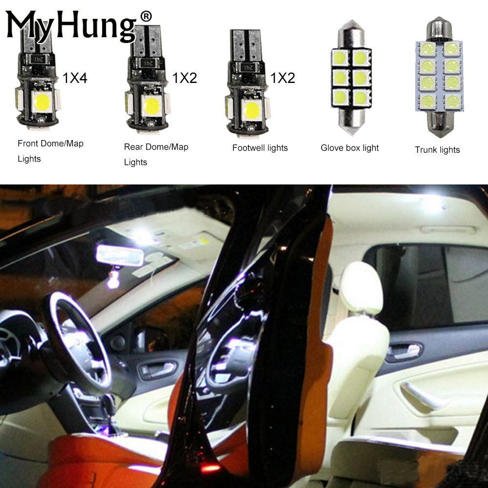 7 Led Xenon White 501 T10 W5w Sidelight Bulbs Peugeot 207 Cc Convertible