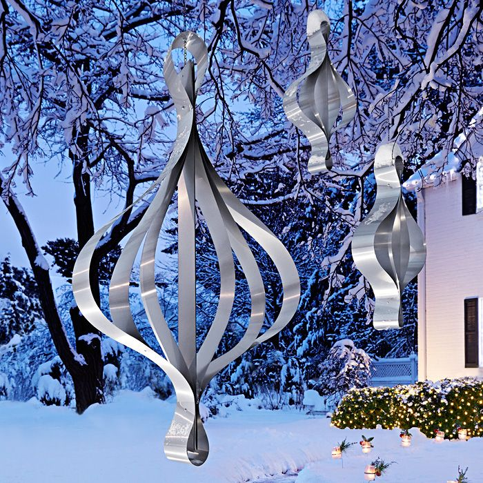 Metal hanging Christmas ornaments. Oversize Ornaments Live ...
