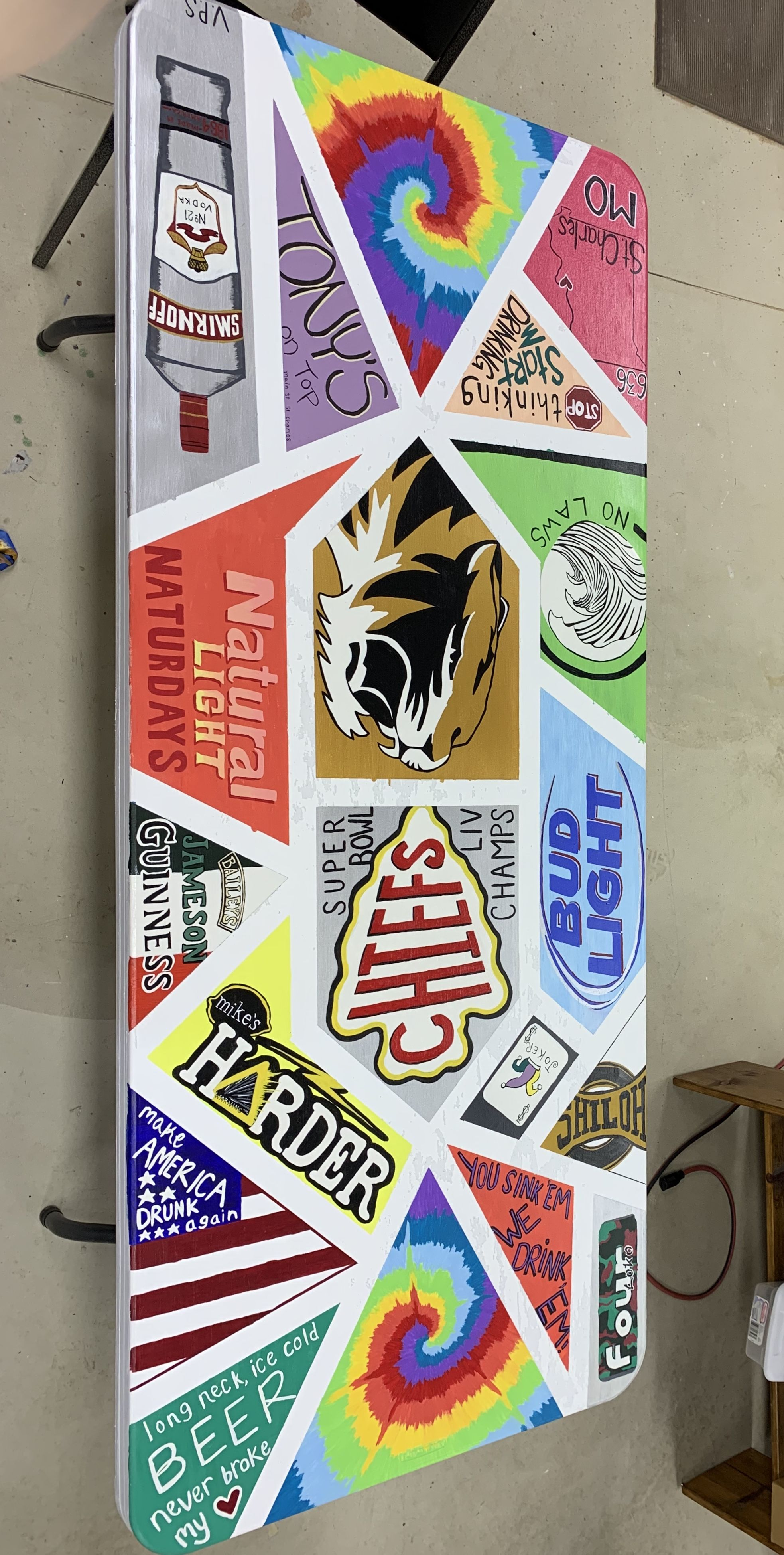 Diy Beer Pong Table Diy Beer Pong Table Beer Pong Table Painted Beer Pong Tables