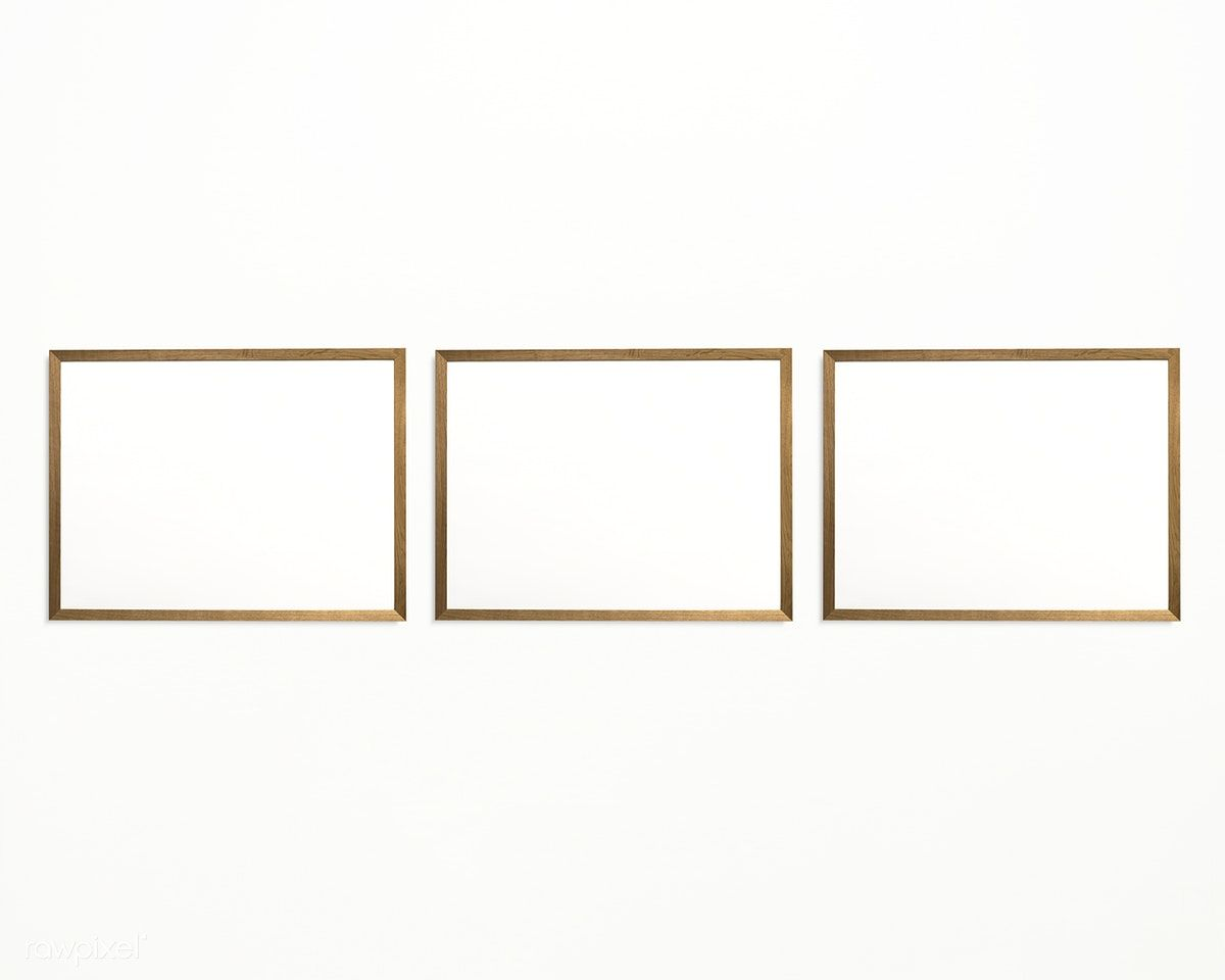 Download Premium Psd Of Three Photo Frames Isolated On White Wall 328127 Three Photo Frame White Walls Wall