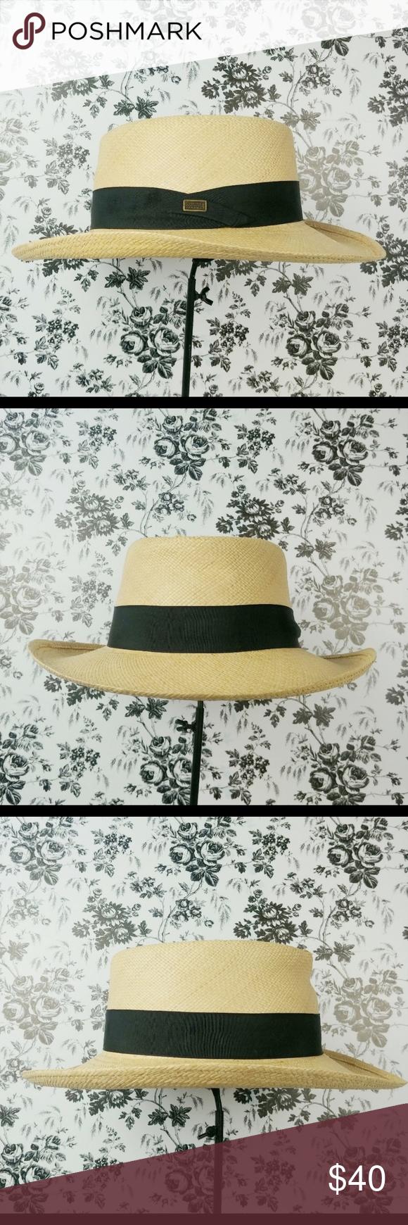 Pinzano Natural Straw Panama Hat Rare Sz Xxl Panama Hat Women Accessories Hats Straw