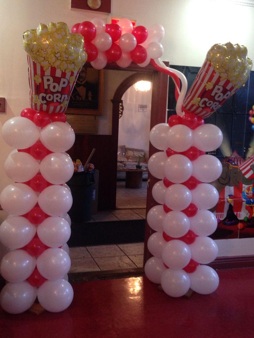 Popcorn Balloon Arch And Columns Sharon S Decorations