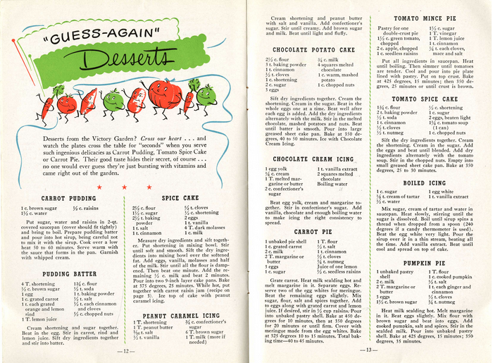 Cake recipe from world war 1