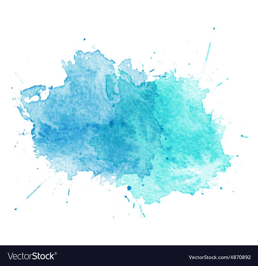 Blue Watercolor Splatters Vector Image On S Izobrazheniyami Fon