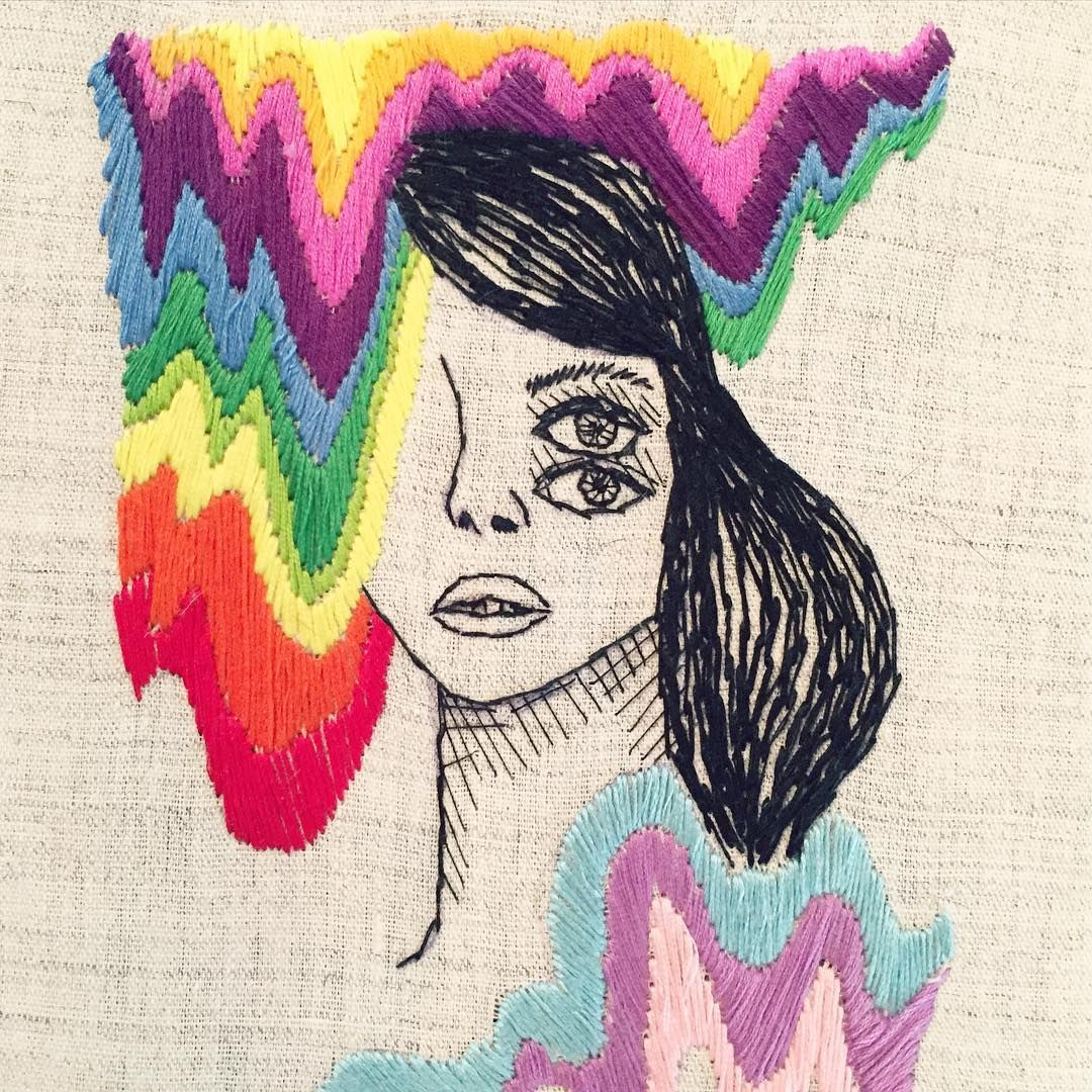 Melting rainbow face 🌈