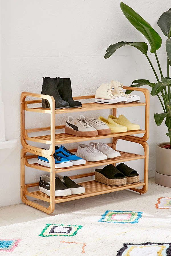 Stackable Bamboo Shoe Rack Bamboo Shoe Rack Diy Shoe Rack Rack Design