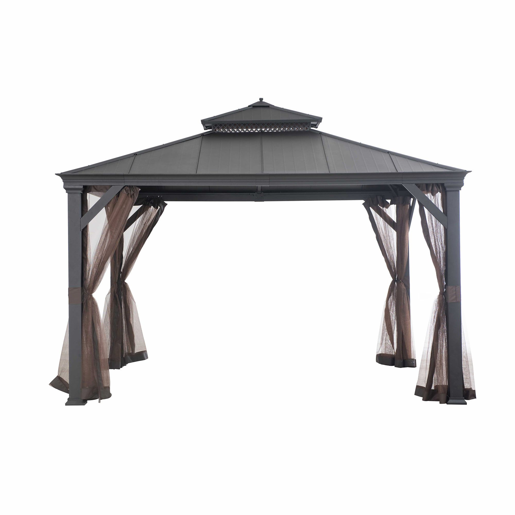 Patio Sun Shelter Pool Furniture Gazebo 10 X 12 Ft Hardtop Steel Roof Garden Set Sales Home Garden Discounts Hardtop Gazebo Patio Gazebo Aluminum Gazebo