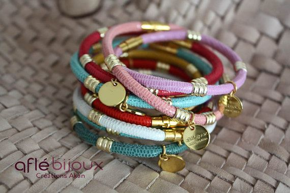 4 African Bracelet Aflé Bijoux Leather Bracelet  for by AFLEBijoux, €110.00  #cuir #aflebijoux #etsy