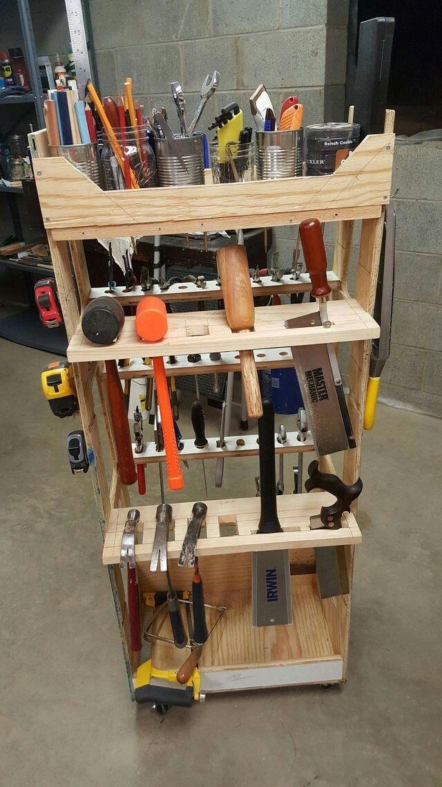 Pin By Jeffandlibbyking On Adam Savage Tool Rack Tool