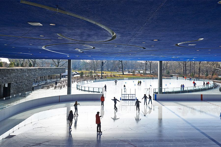 The Most Architecturally Beautiful Ice Skating Rinks Outdoor Skating Ice Skating Rink Roller Skating Rink