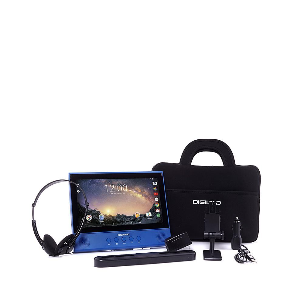 "DigiLand 10"" Quad-Core Android DVD Player/Tablet Combo with"