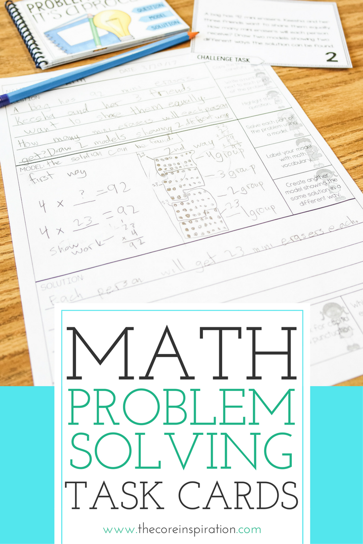 Third Grade Math Word Problem Solving Task Cards Year Long
