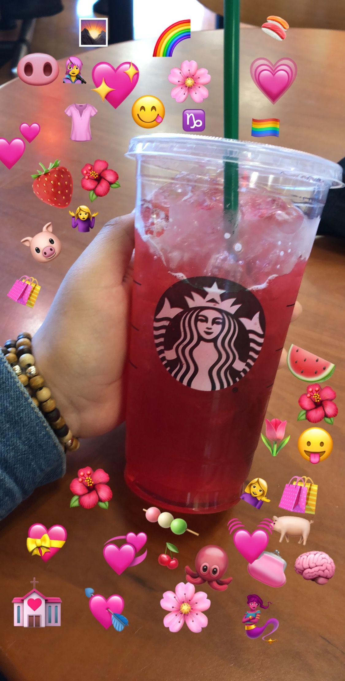 Aesthetic Tumblr Pink Starbucks Emojis Cute Ideias De
