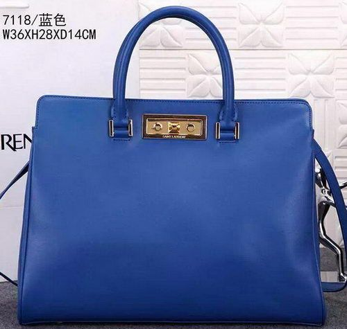 1ebdd1d598 YSL Medium Trois Clous Tote Bag Y7118 Blue Ysl Tote Bag