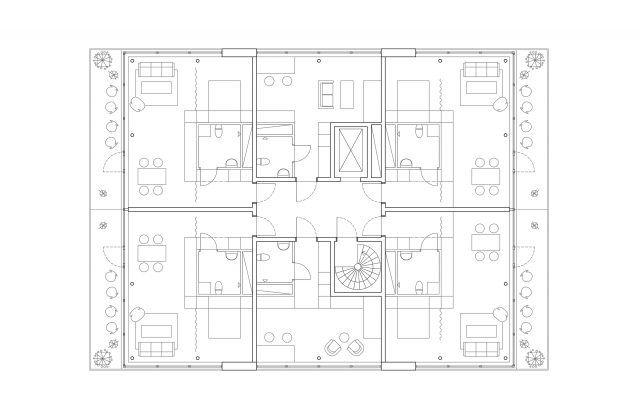 P Projektbergsbrantenamodellhus1 Typplan Model 1 Floor Plan Drawing Floor Plan Layout Architecture Drawing