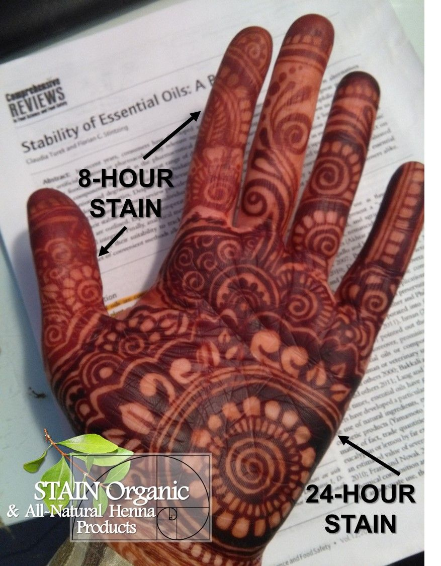 This Is Stain Organic Henna Stain Results Design Done In Parts