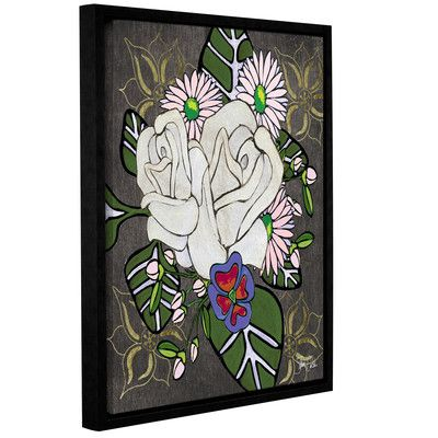 """World Menagerie Botanical III Framed Painting Print on Wrapped Canvas Size: 18"""" H x 14"""" W x 2"""" D"""