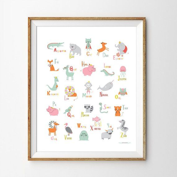 Alphabet Poster Instant Print Abc Wall