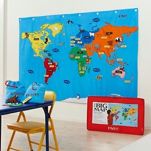 Fao Schwarz World Map.Fao Schwarz Big World Map Getting This For Our Homeschooling