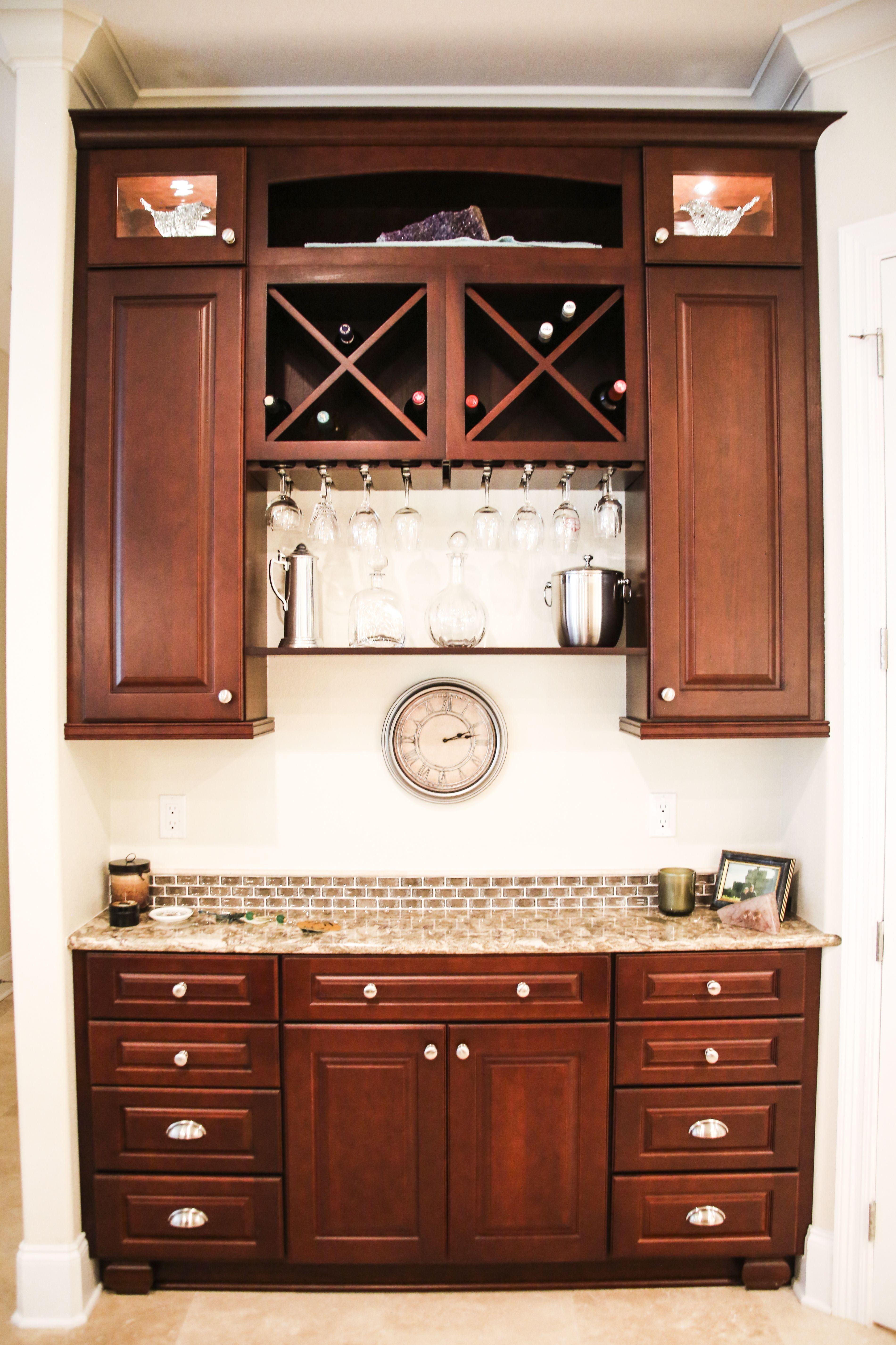 Cherry Walnut Wine Rack Bar Perfect For Any Dream Home 30a Kitchen Studio Santa Rosa Beach Florida Seaside Dream H Studio Kitchen Kitchen Cabinet