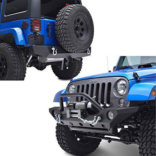 E Autogrilles 07 16 Jeep Wrangler Jk Rock Crawler Front Bumper With Oe Fog Lights Hole Winch Plate And R Jeep Wrangler Jeep Wrangler Bumpers Jeep Wrangler Jk