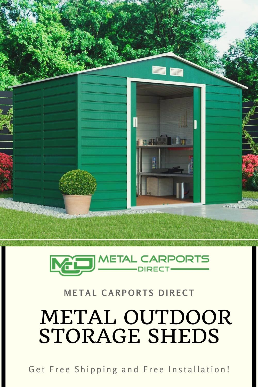 Get the best deals on metal storage sheds and garages for
