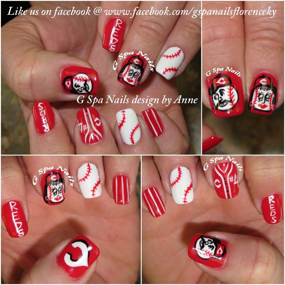 Cincinnati Reds Nails I M Trying This For The Next Go To