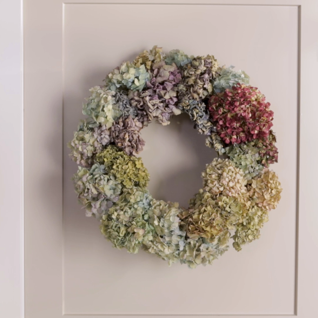 Display Your Hydrangeas All Year with a Gorgeous Dried Floral Wreath