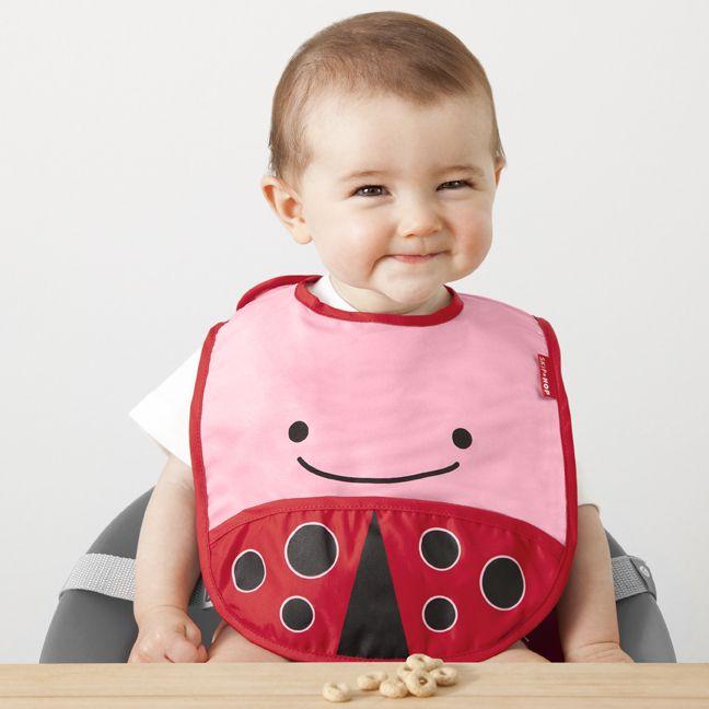 BUTTERFLY Baby Feeding Dribble Bibs Skip Hop ZOO TUCKAWAY BIBS