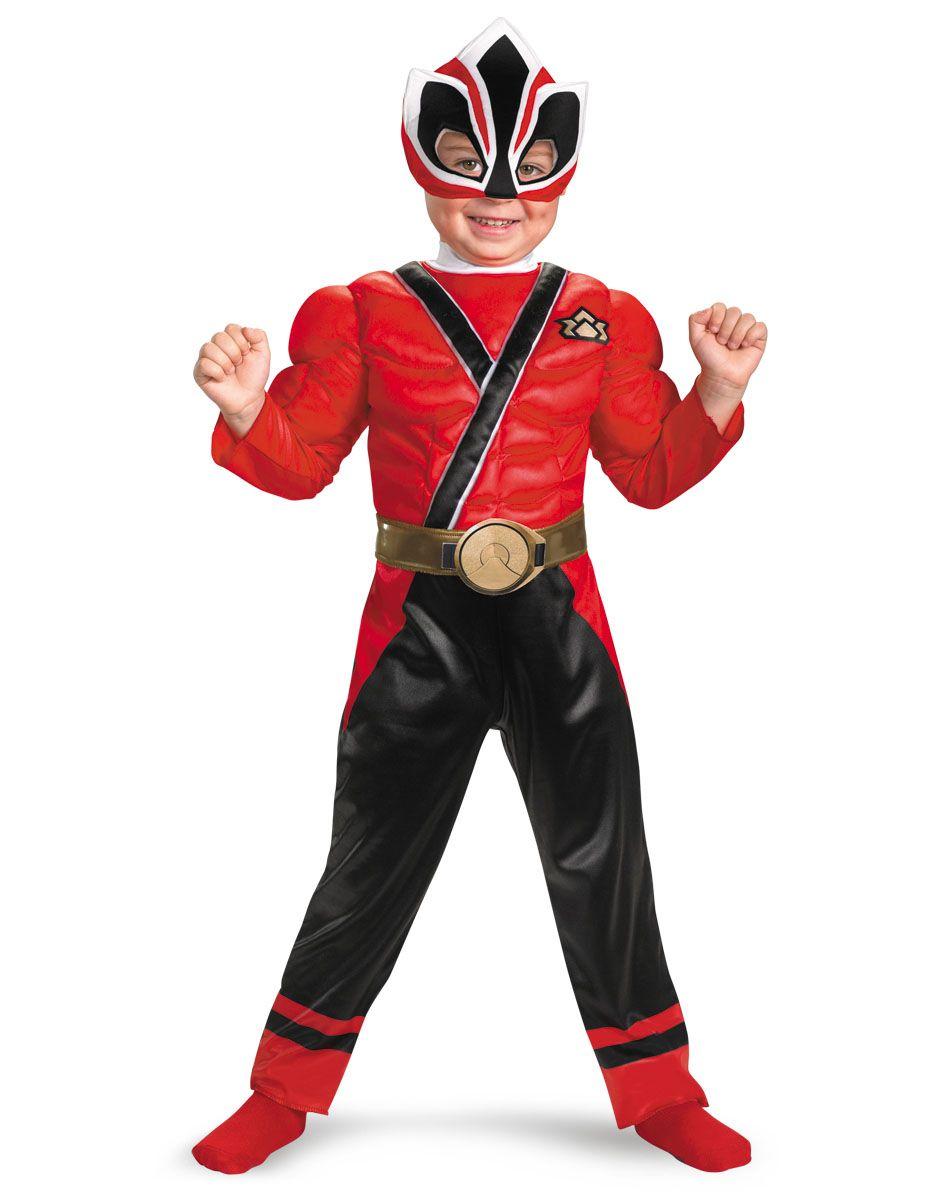 Power Rangers Samurai Red Ranger Muscle Toddler Costume Spirit Halloween