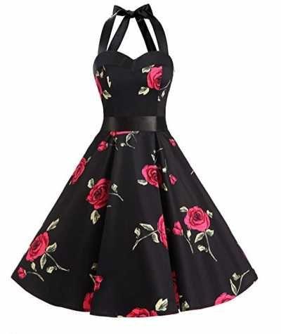 Dresstells Halter 50 Rockabilly Ofertas Especiales   Caracteristicas Del Producto: Vestido de Audrey Hepburn 85% Algodón, 15% Elastane Sin mangas trap