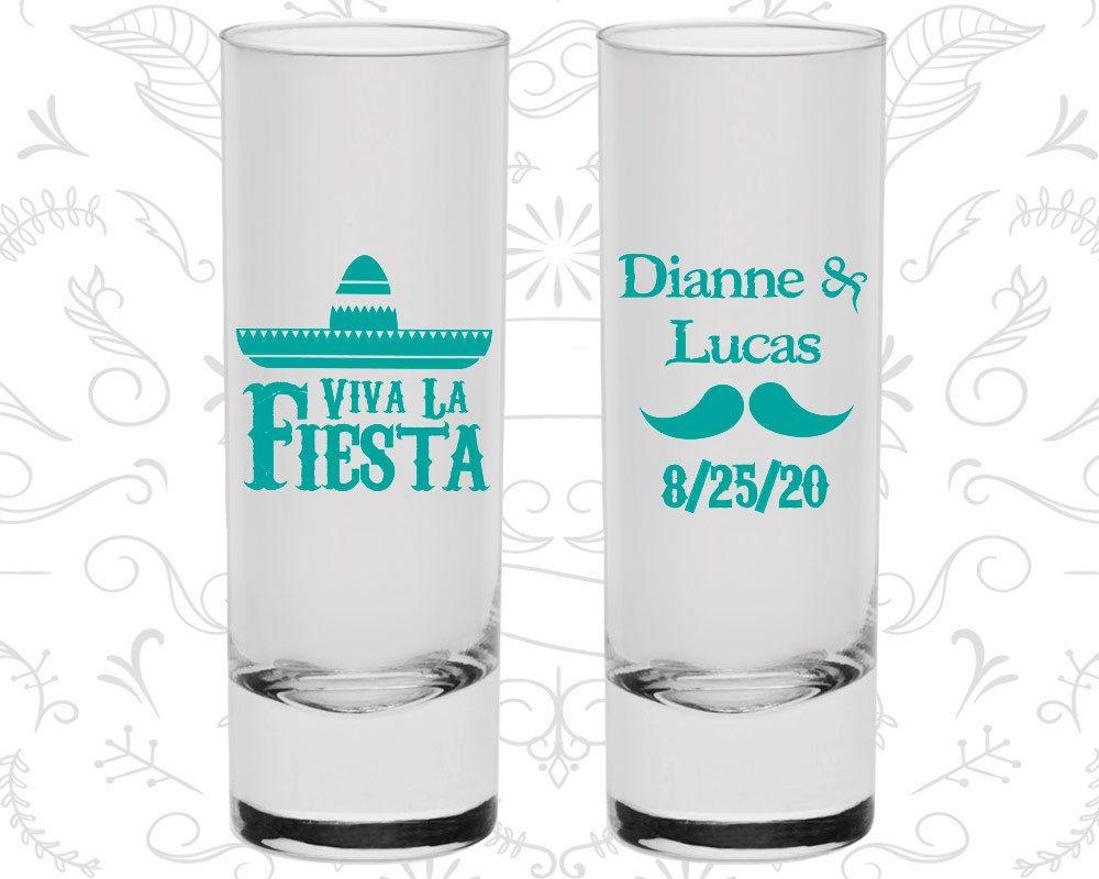 Viva La Fiesta, Wedding Favor Shooter Glasses, Mexican Wedding ...