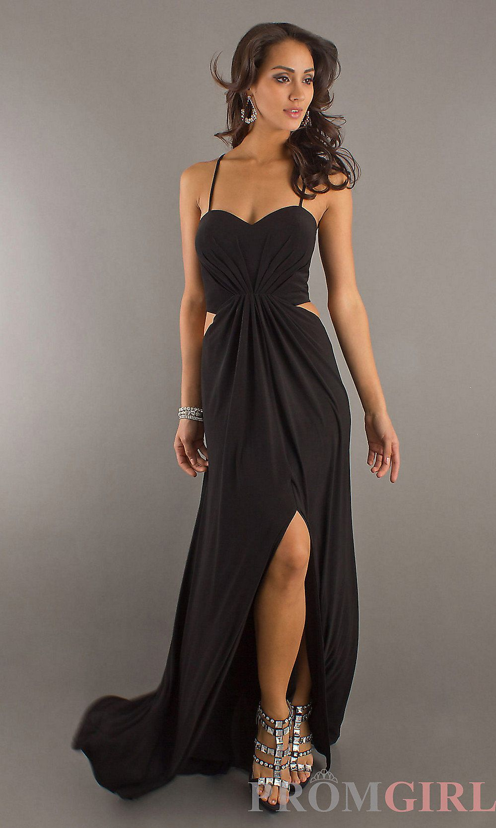 Long black cut out gown by temptation on wanelo f a s h i o n