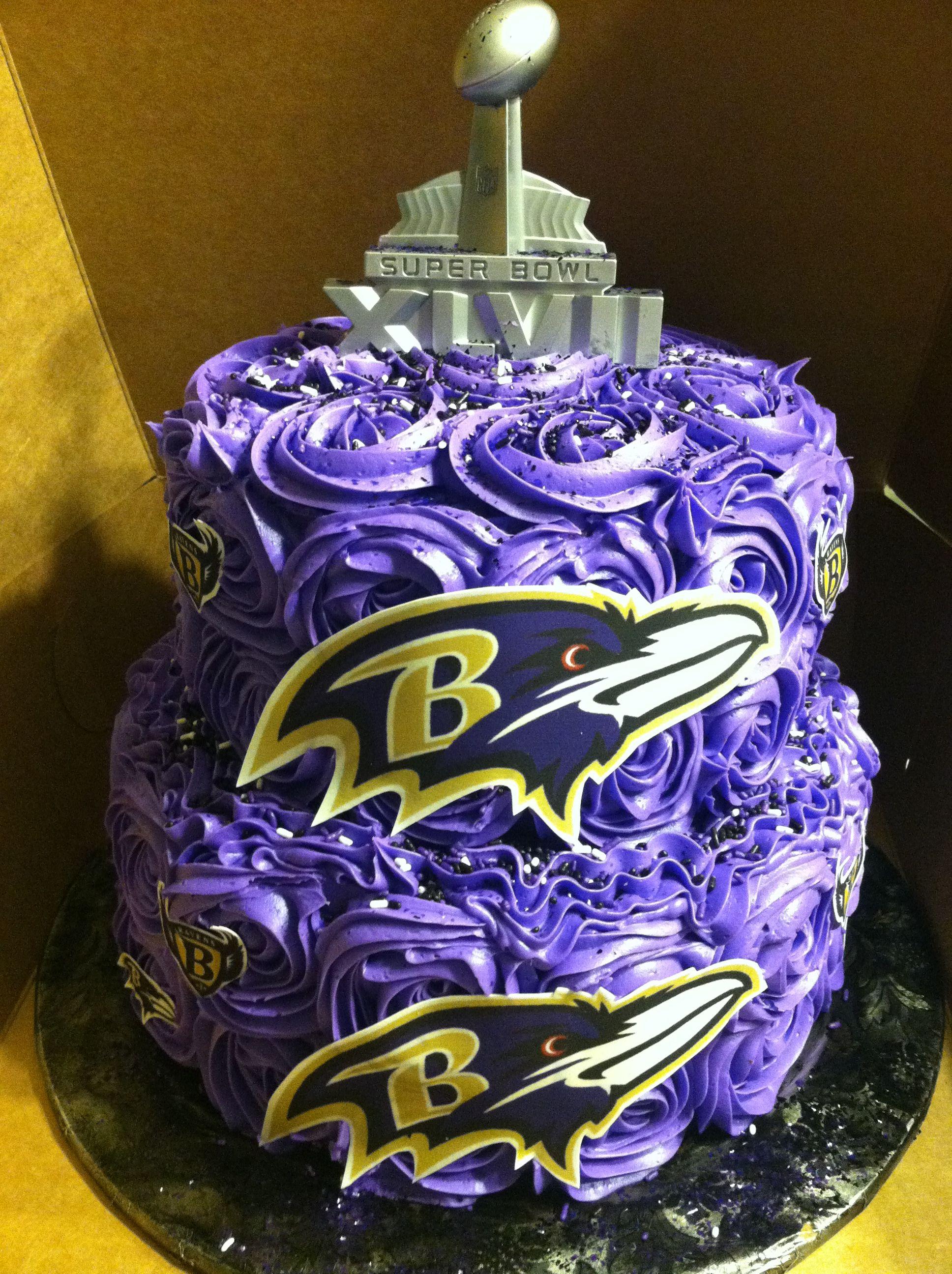 Ravens Super Bowl Cake I Like The Icing Swirls With Images