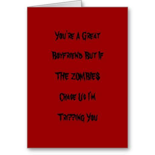 Funny Zombie Valentine Card  stationery  Pinterest  Funny