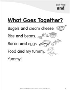What Goes Together? (Sight Word \'and\'): Super Sight Words Poem ...