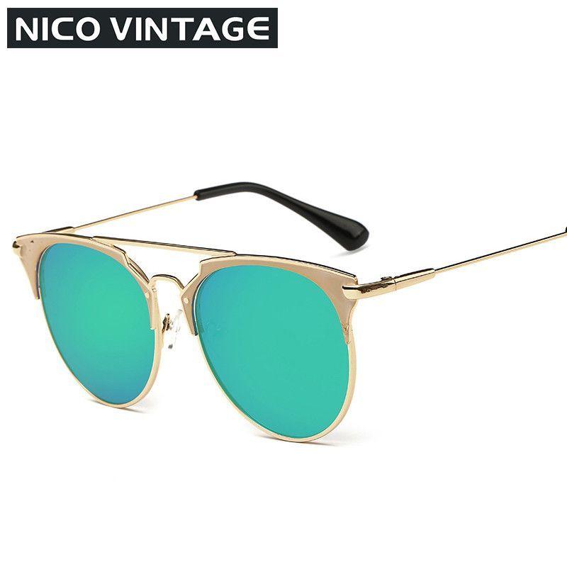 Mirror Rose Gold Women Sunglasses Round Luxury Brand Female Sun Glasses For Women 2016 Fashion Oculos Designer Style Shades
