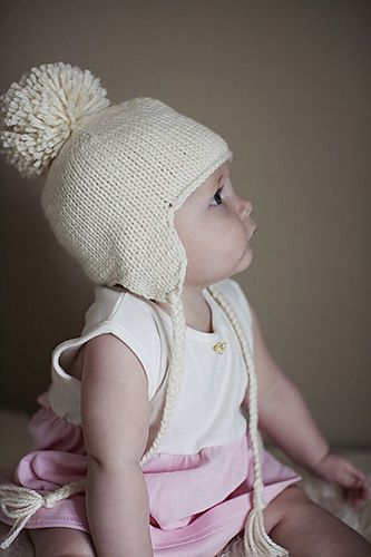 dc34177e231 Simple earflap hat knit from the top down means there is no seaming or  picking up stitches. Braided ties allow this hat to tie on making it very  functional ...