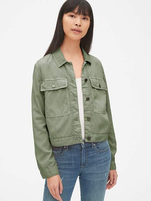 d6d88733bb65b TENCEL™ Icon Utility Jacket in 2019 | Products | Utility jacket ...