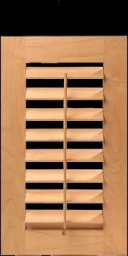Custom Interior Shutter Door   Operable Louvered Cabinet Doors (S247)  Command Stream