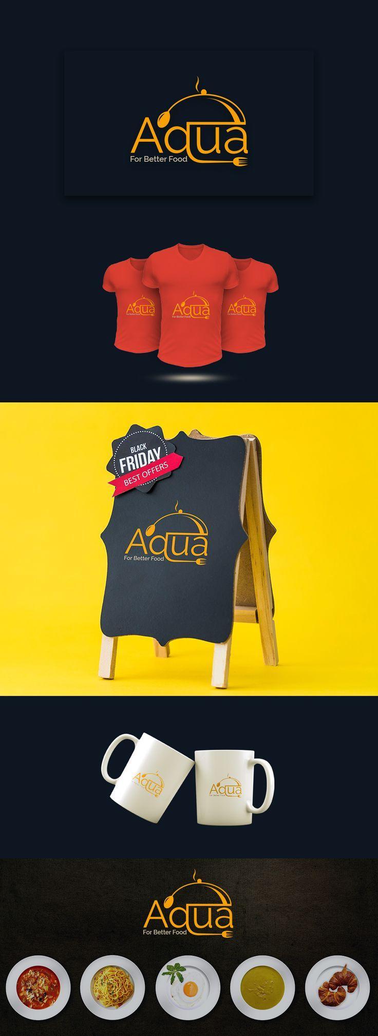Aqua Restaurant Logo designhill graphicdesignideas
