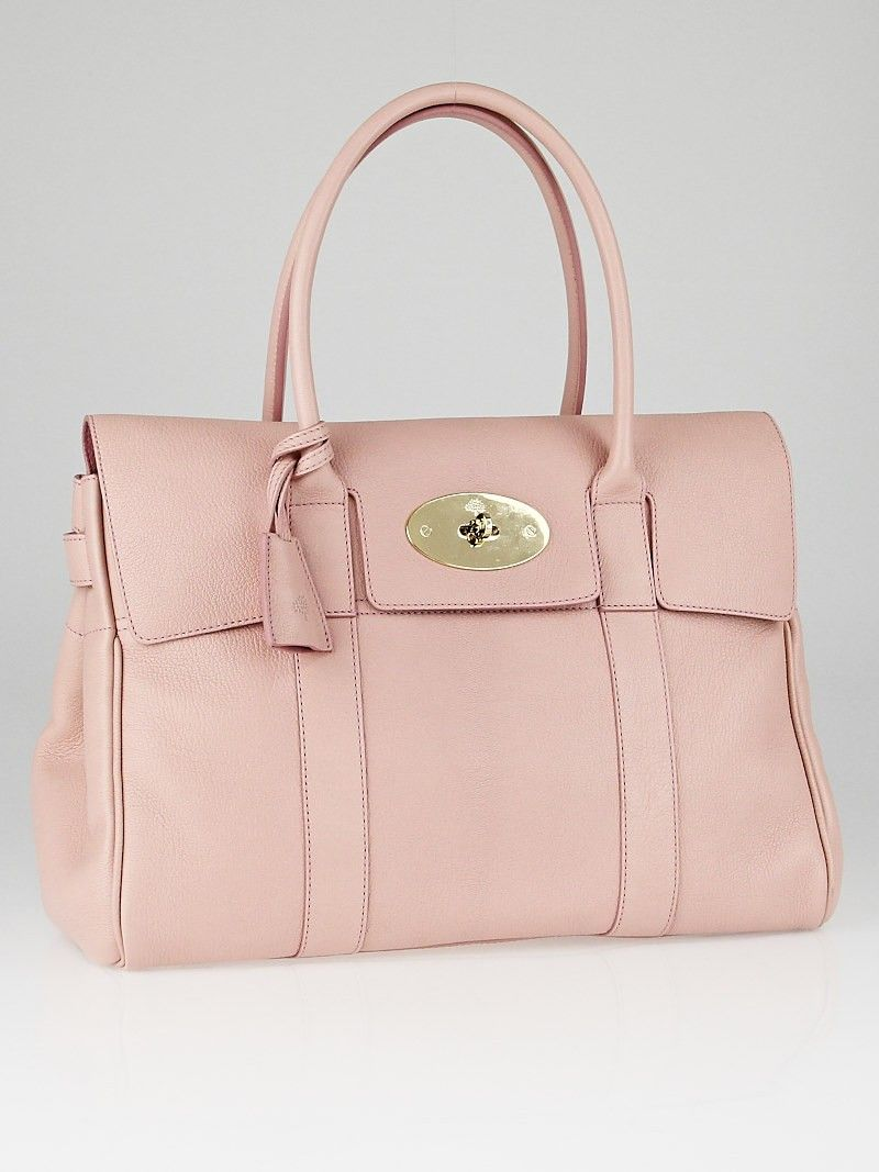 595769cedb Mulberry Light Pink Glossy Goat Leather Bayswater Bag - Yoogi s Closet